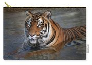 Bengal Tiger Laying In Water Carry-all Pouch