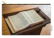Bible And Gavel Carry-all Pouch