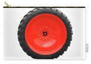Big Tractor Tire Isolated On White Carry-all Pouch
