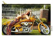 Bikes And Babes Carry-all Pouch by Clayton Bruster