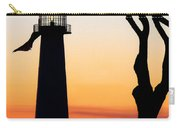 Biloxi Lighthouse At Dusk Carry-all Pouch
