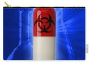 Biohazard Symbol On Capsule Carry-all Pouch