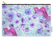 Bird And Flowers Carry-all Pouch