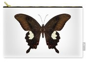 Black And Brown Butterfly Species Papilio Nephelus Carry-all Pouch