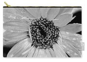 Black And White Gerbera Daisy Carry-all Pouch
