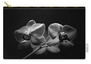 Black And White Orchids Carry-all Pouch