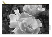 Black And White Roses 2 Carry-all Pouch