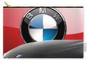 Black B M W - Front Grill Ornament And 3 D Badge On Red Carry-all Pouch