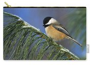 Black-capped Chickadee Carry-all Pouch by Tony Beck