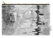 Black Gray Abstract Carry-all Pouch