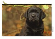 Black Labrador Retriever Puppy Carry-all Pouch
