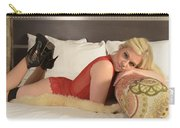 Blonde In Lingerie Carry-all Pouch
