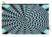 Blue And Black Abstract Carry-all Pouch