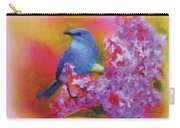 Blue Bird In The Lilac's Carry-all Pouch
