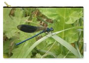 Blue Dragonfly On Leaf Carry-all Pouch