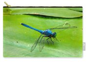 Blue Dragonfly On Lily Pad Carry-all Pouch