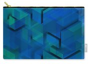 Blue Geometric Composition 1 Carry-all Pouch
