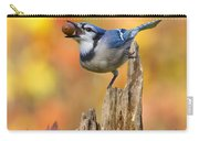 Blue Jay With Acorn Carry-all Pouch