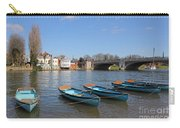 Blue Rowing Boats On The Thames At Hampton Court London Carry-all Pouch