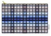 Blue Toned Glass Brick Window Abstract  Carry-all Pouch