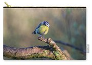 Bluetit On A Branch Carry-all Pouch