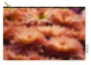 Blurred Seasonal Flowers With Yellow Background Carry-all Pouch