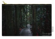 Boardwalk Leading Through The Dark Rainforest. Carry-all Pouch