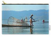 Boatmen On Inle Lake  Carry-all Pouch