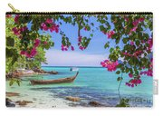 Boats, The Andaman Sea And Hills In Ko Phi Phi Don, Thailand Carry-all Pouch