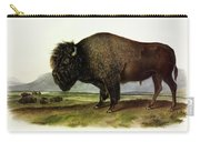 Bos Americanus, American Bison, Or Buffalo Carry-all Pouch