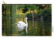 Boston Public Garden Swan Green Reflection Carry-all Pouch