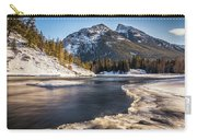 Bow River With Mountain View Banf National Park Carry-all Pouch