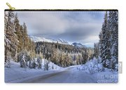 Bow Valley Parkway Winter Conditions Carry-all Pouch