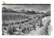 Bow Valley River View Black And White Carry-all Pouch