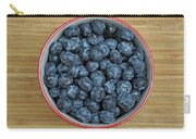 Bowl Of Fresh Blueberries Carry-all Pouch