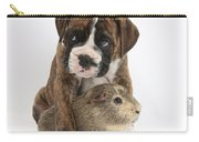 Boxer Puppy And Guinea Pig Carry-all Pouch