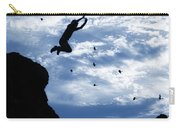 Boy Jumping With Birds Carry-all Pouch