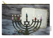 Brightly Glowing Hanukkah Menorah - Shallow Depth Of Field Carry-all Pouch
