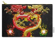 Brotherhood Of The Snake - The Red And The Yellow Dragons Carry-all Pouch by Serge Averbukh