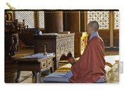 Buddhist Monk In Prayer Carry-all Pouch