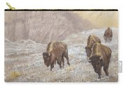Buffalo Under The Alpenglow Carry-all Pouch