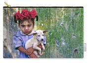 Burmese Girl With Puppy Carry-all Pouch