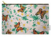 Butterflies And Daisies - 1 Carry-all Pouch