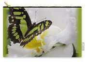Butterfly On White Carry-all Pouch