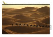 Camel Caravan In The Erg Chebbi Southern Morocco Carry-all Pouch