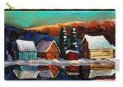 Canadian Art Laurentian Landscape Quebec Winter Scene Carry-all Pouch