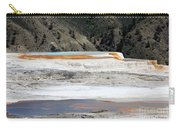 Canary Spring At Mammoth Hot Springs Upper Terraces Carry-all Pouch
