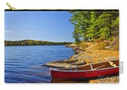 Canoe On Shore Carry-all Pouch
