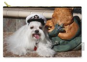 Captain Maltese Dog  Carry-all Pouch