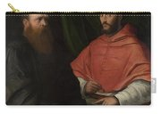 Cardinal Ippolito De Medici And Monsignor Mario Bracci Carry-all Pouch